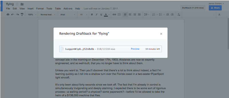 You can use this Chrome extension to watch how any Google Doc was written
