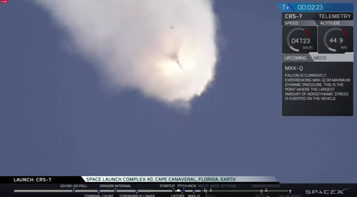 SpaceX's Falcon 9 rocket exploded two minutes after launch