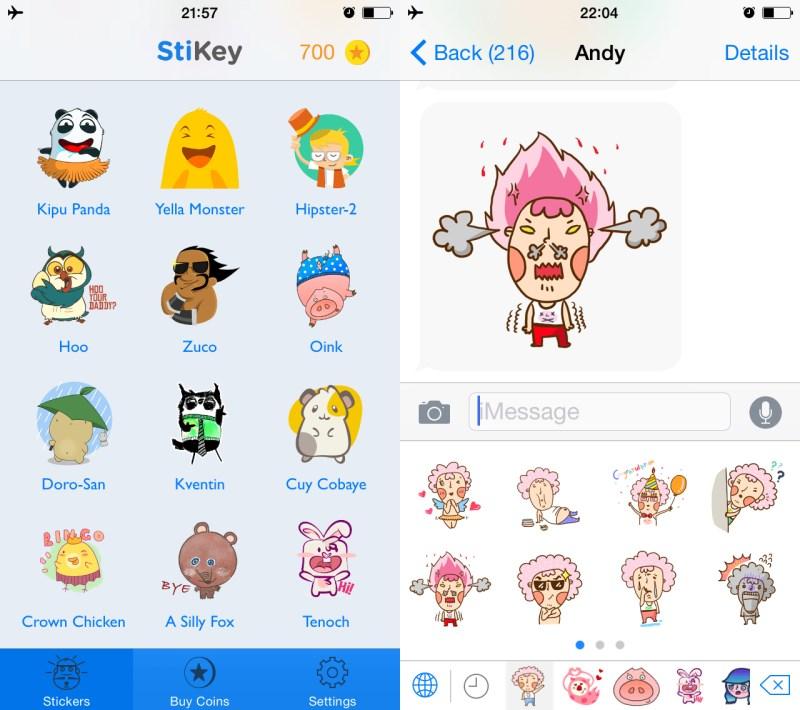 StiKey screens