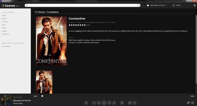 Teewe's desktop app (click for larger image)