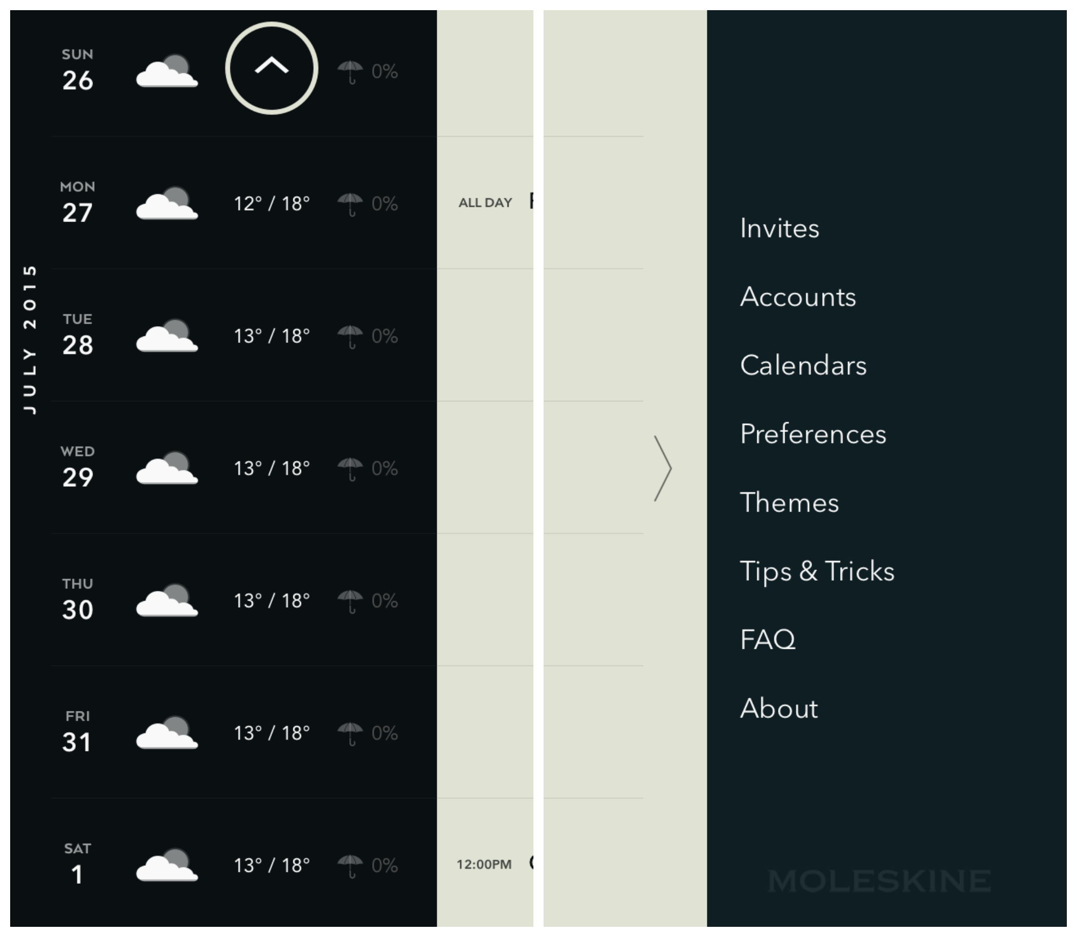 Moleskine's Timepage For IOS Is The Perfect Minimalist