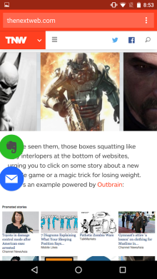 do apps floating button