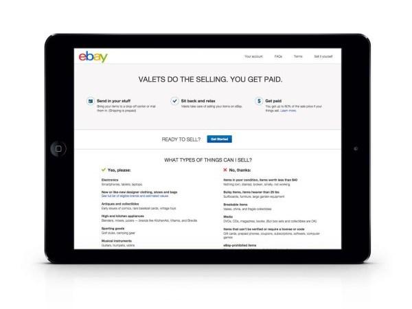 eBay Valet iPad