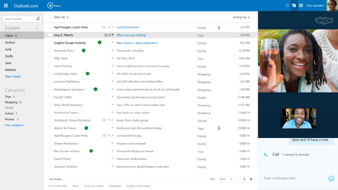 Microsoft takes on Google's Hangouts with tighter Skype integration on Outlook.com
