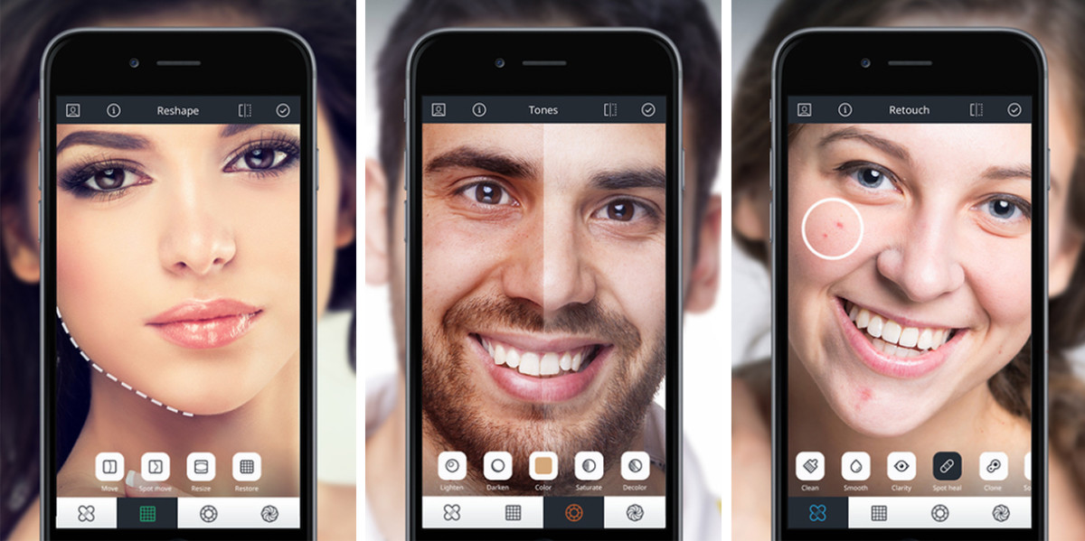 Relook for iOS applies sophisticated touch-ups to portraits