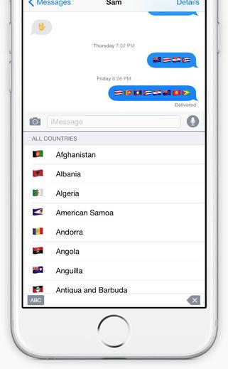 Flags emoji