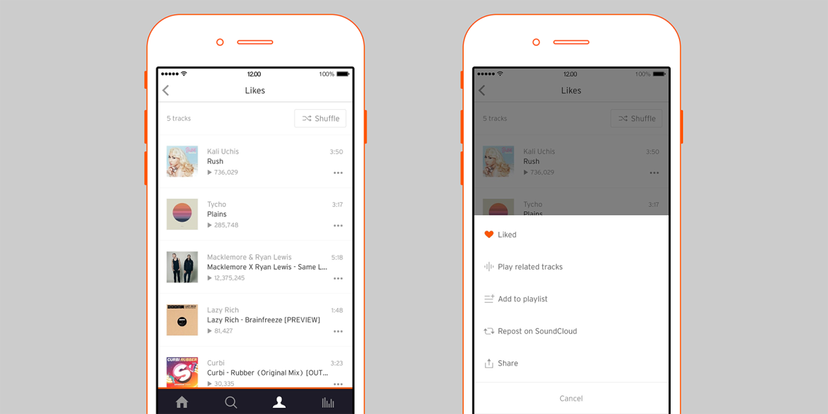SoundCloud for iOS update adds related tracks playback and better playlist management