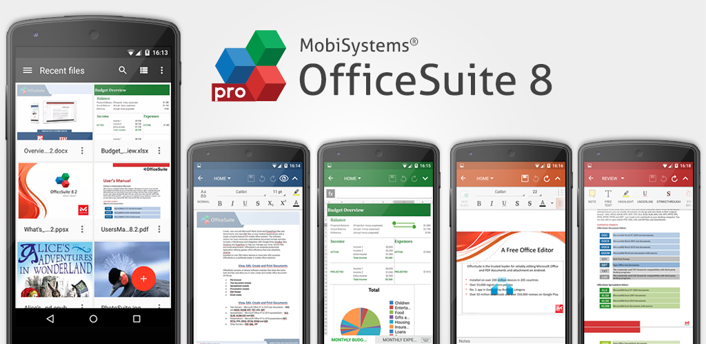 OfficeSuite Professional: the complete business tool for mobiles