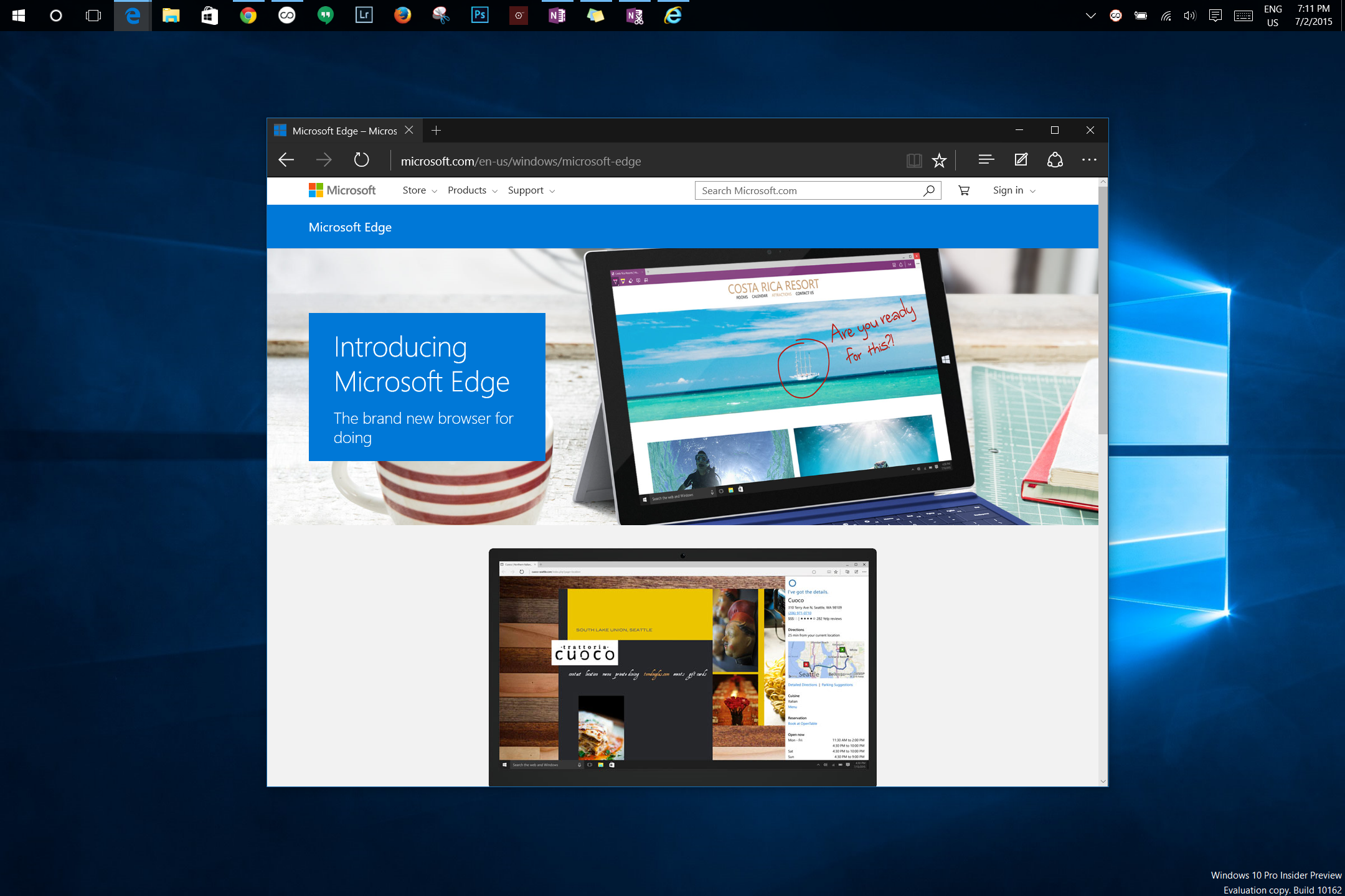 Microsoft releases near-final Windows 10 build, claims Edge beats Chrome in Google benchmarks