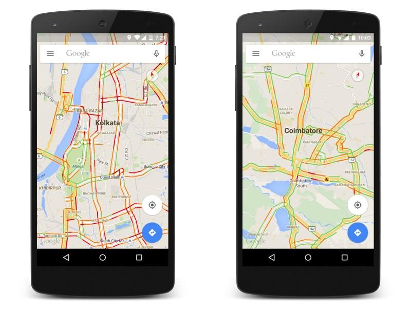 Google Maps Traffic India