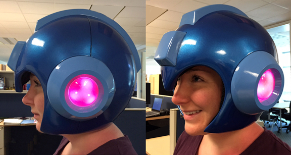 Finally go full Mega Man with this sweet helmet