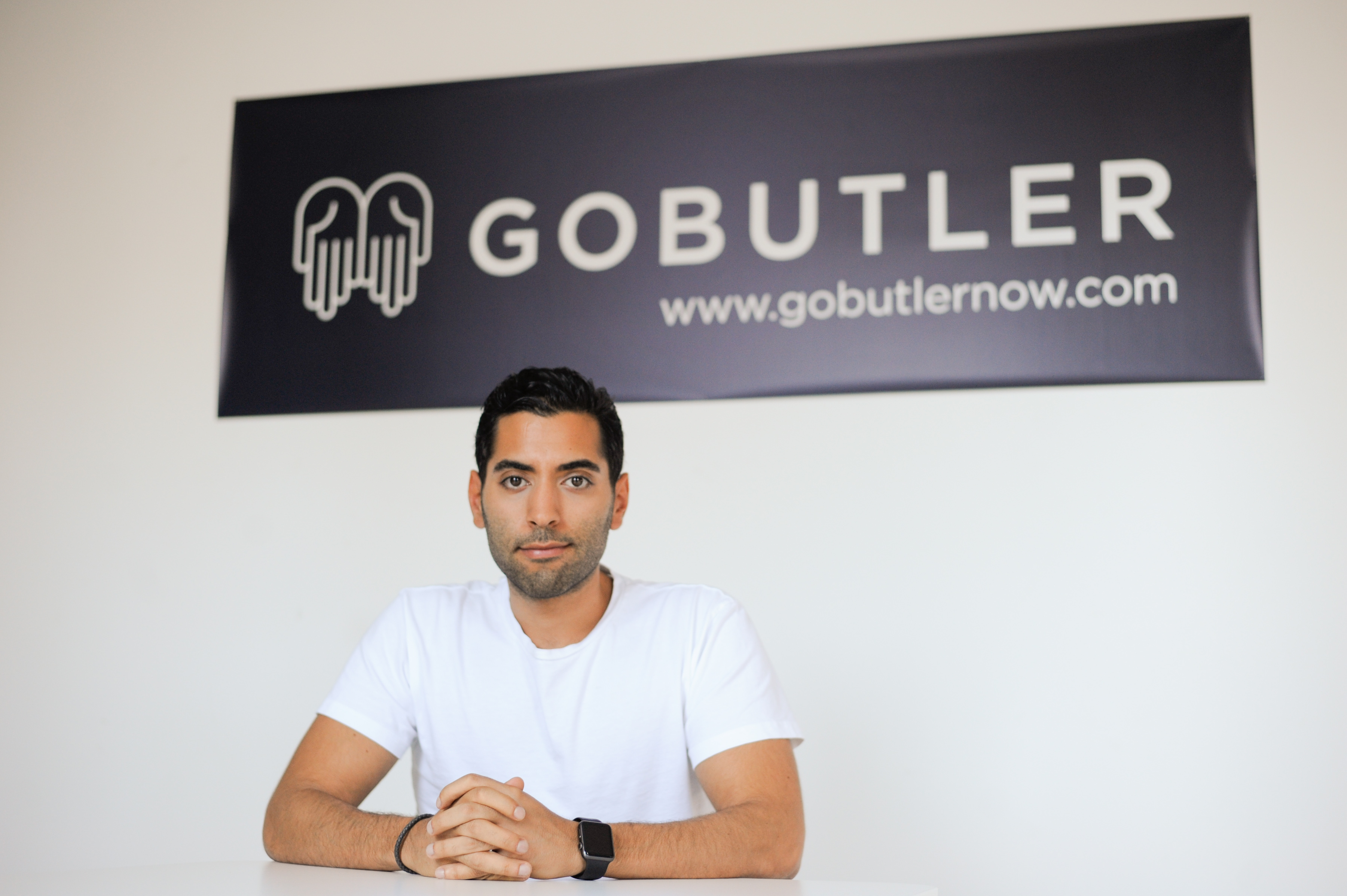 Navid Hadzaad, CEO of GoButler, in their office in the Meatpacking District of Manhattan on Thursday, July 23, 2015. Photograph by Casey Kelbaugh