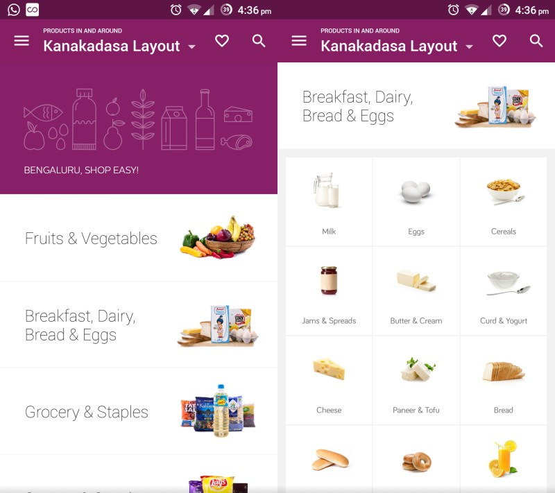Ola Store's interface is clean, but small fonts and images make it a bit difficult to browse
