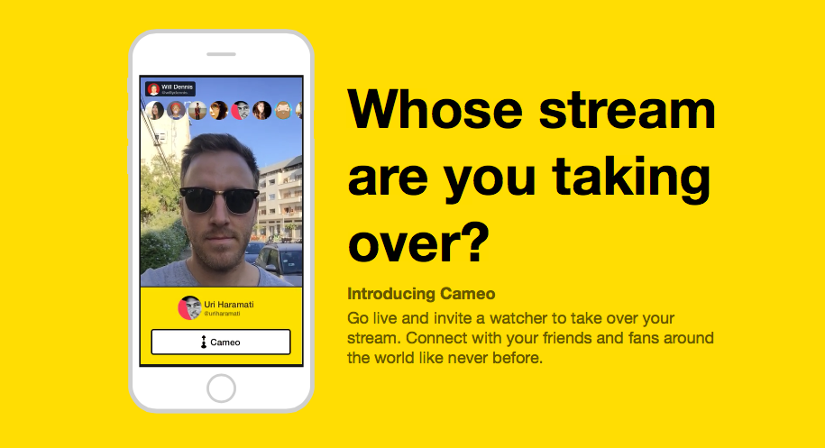 Meerkat will let you take over streams you're watching with its new feature, Cameo
