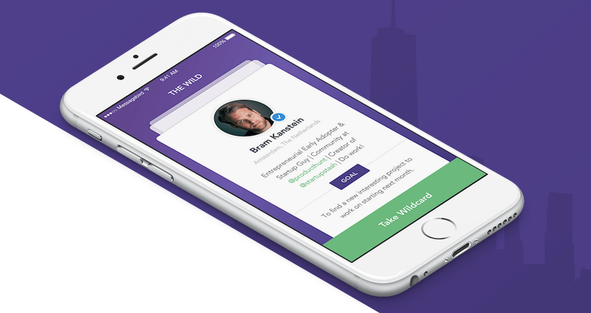 Wildcard helps you break the ice and meet people at events or in new places
