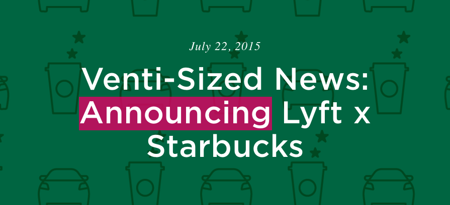 Lyft partners with Starbucks to offer rewards points to riders and coffee for drivers