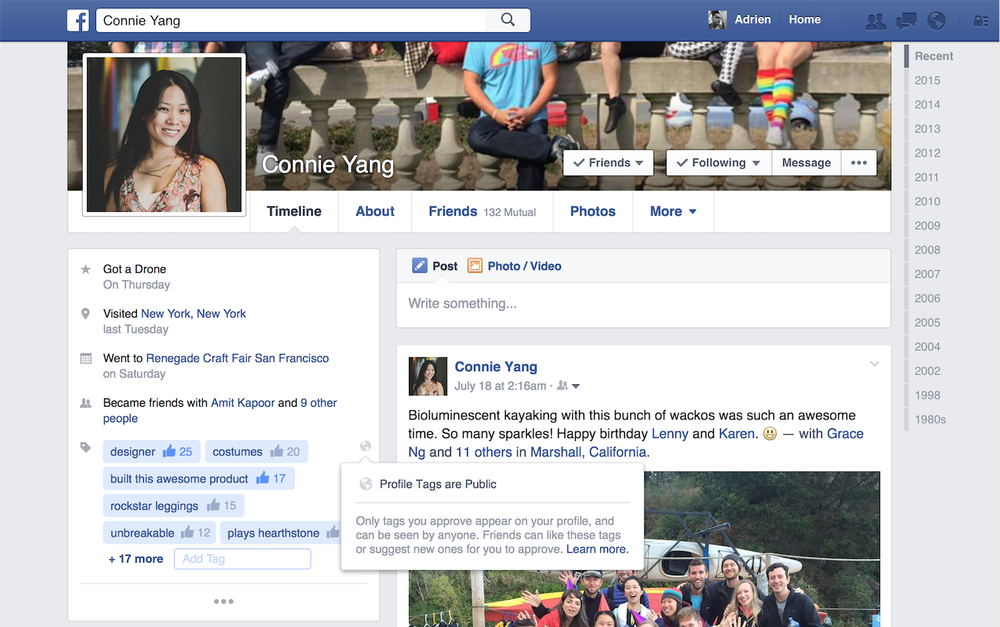 Facebook is testing new tags for your profile page - The Next Web