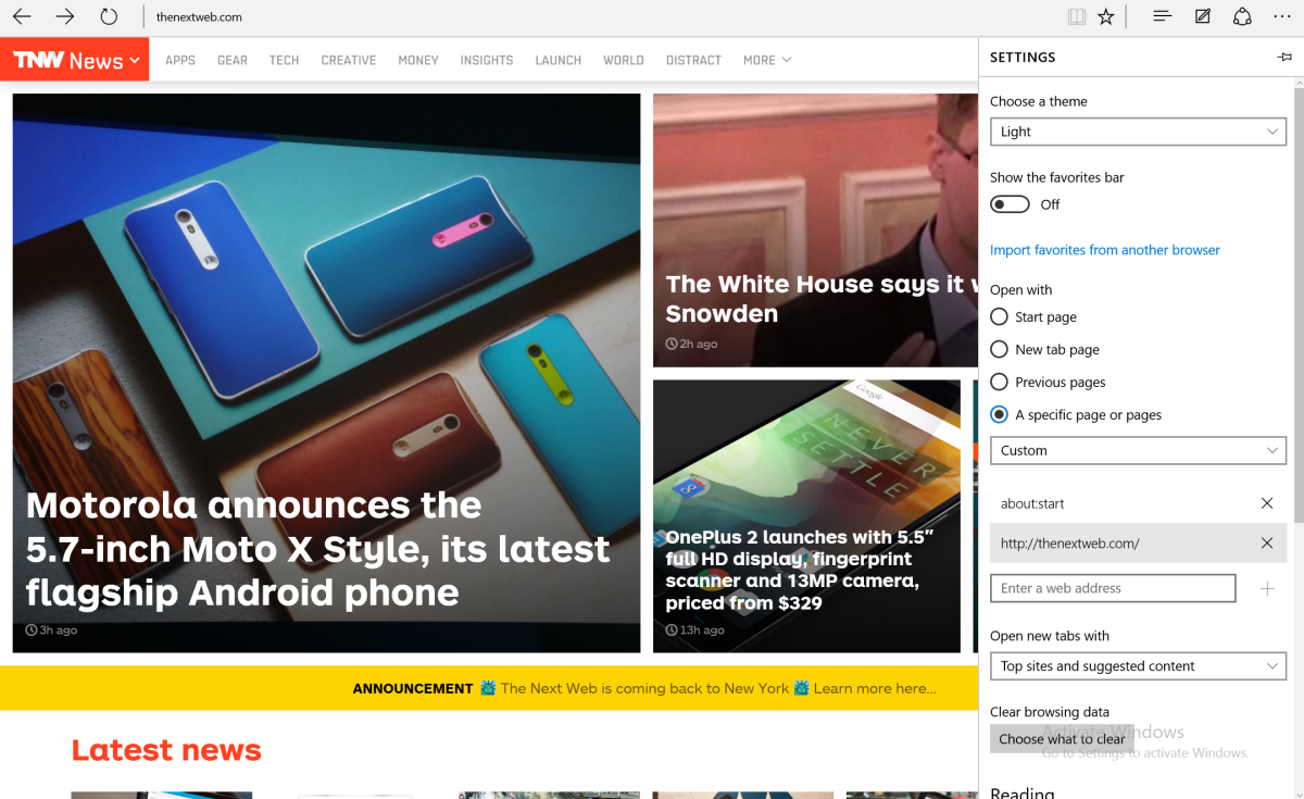 Microsoft Edge UI for a clearer browsing experience
