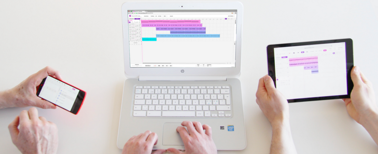 GarageBand is great but SoundTrap is a collaborative music app for everyone