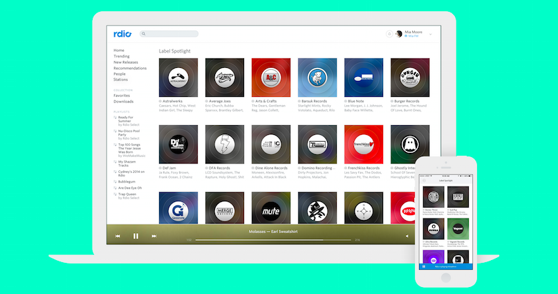 Rdio launches its answer to Apple's Beats 1: Stations from XL, DFA, Blue Note and more