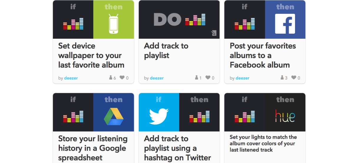 Deezer has integrated with IFTTT to turn your listening habits into actions
