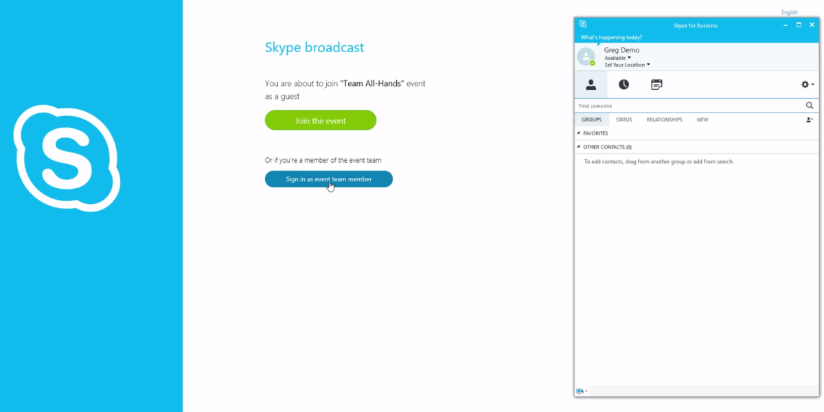 Office 365 enterprise users can now broadcast to 10,000 people at once via Skype for Business, should ...
