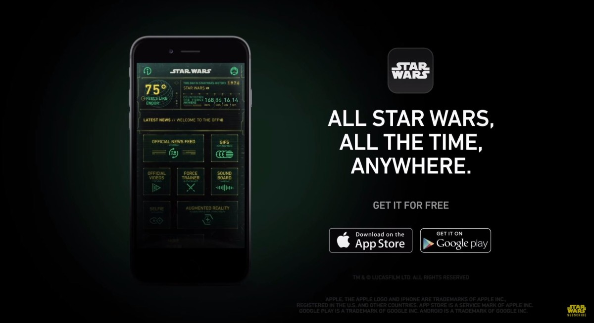Official Star Wars Android and iOS app lets you take a selfie with Princess Leia