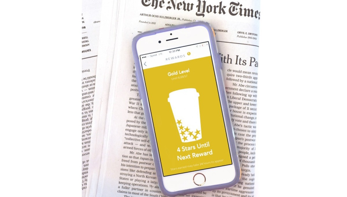New York Times will offer free articles on the Starbucks app starting next year