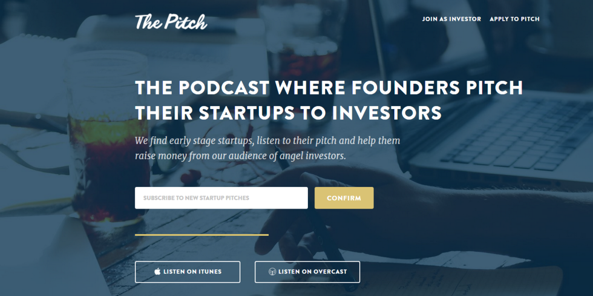 'The Pitch' is a podcast version of 'Shark Tank' for startups