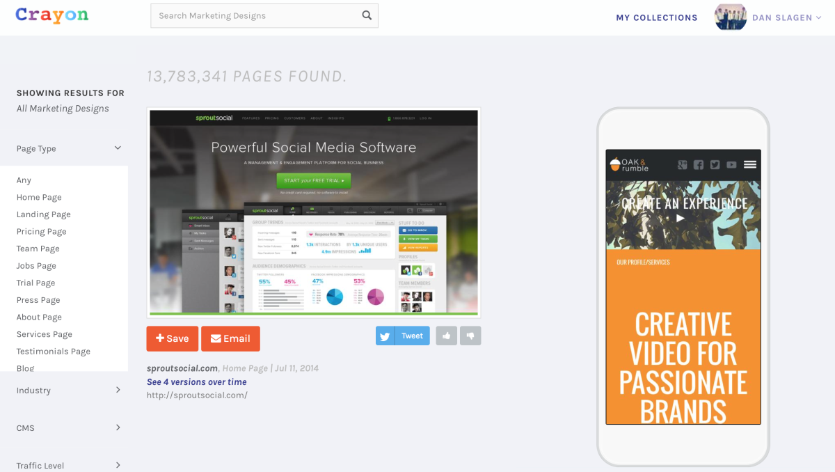 crayon design search engine goes mobile to generate inspiration