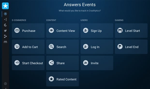 Twitter's Answers analytics tool now lets mobile developers create custom events