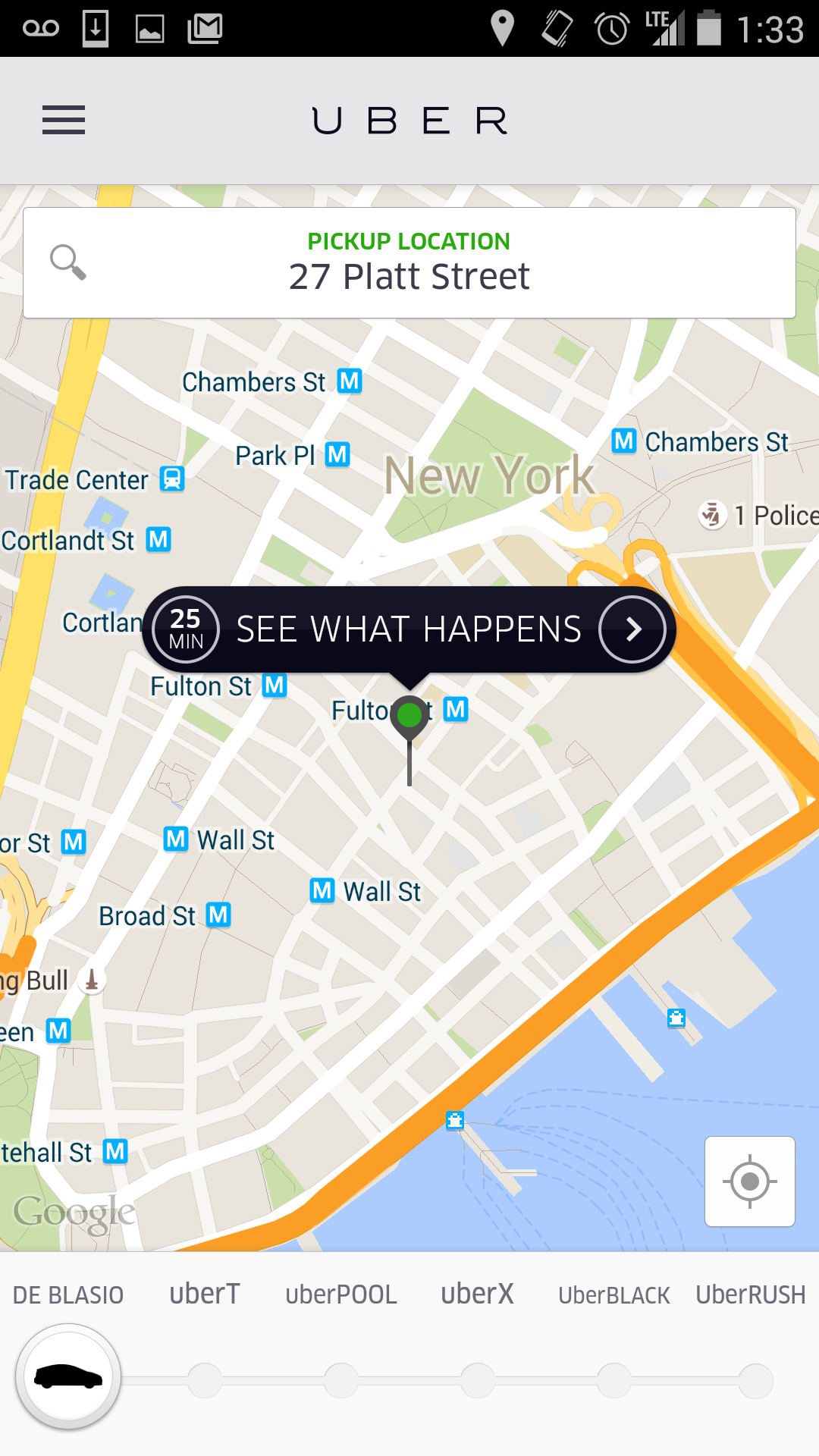 how to find arrival time on uber
