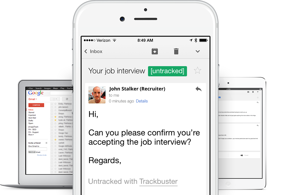 Trackbuster stops people creeping on if you opened an email or not