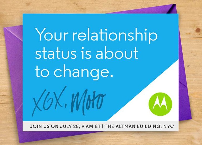 Motorola wants to 'change your relationship status' in teaser for July 28th event