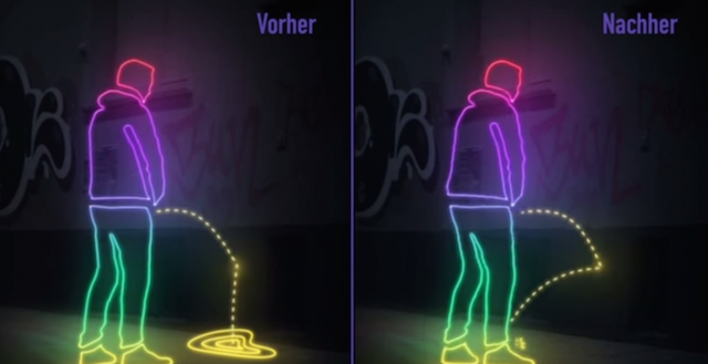 San Francisco introduces pee-repelling walls to reward public urinators with golden showers