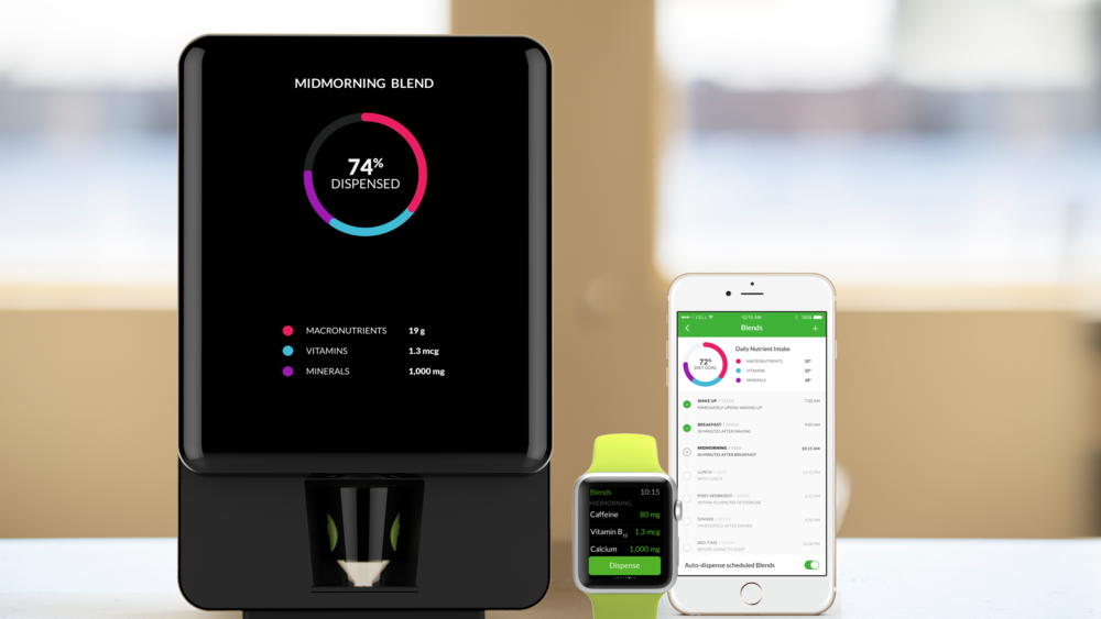 Nourish is a countertop device that'll mix dietary supplements based on your fitness data