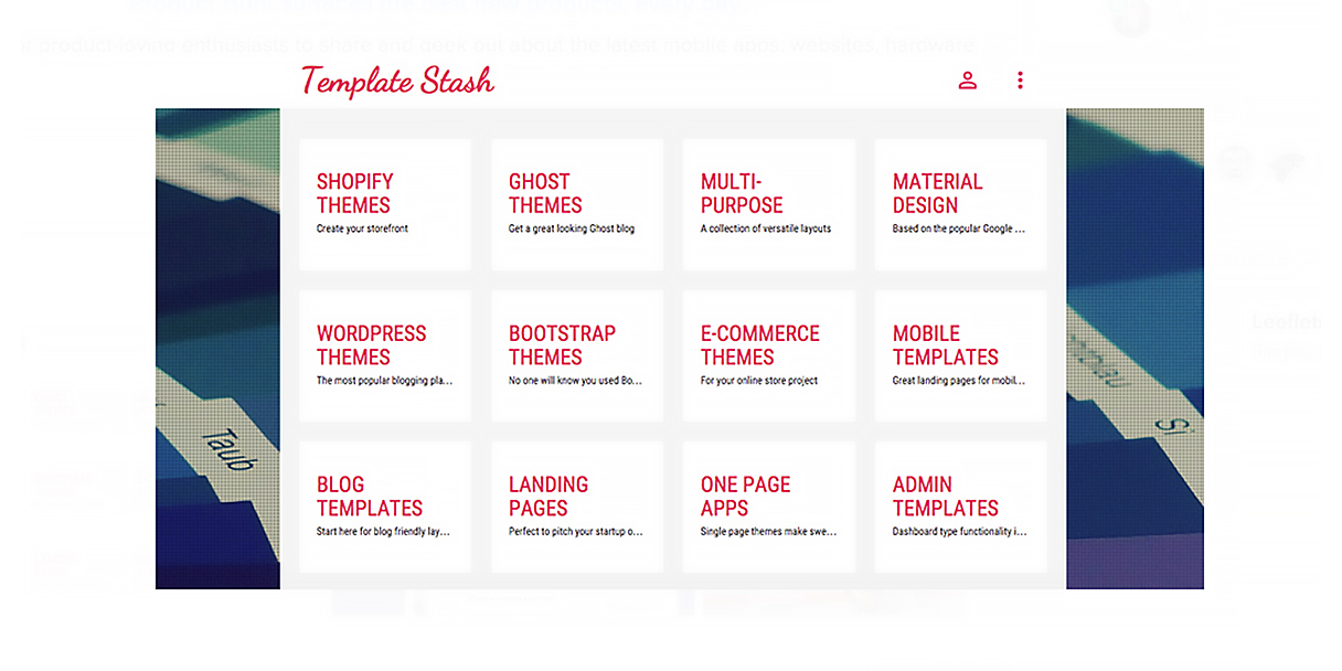 Template Stash is a home for hand-picked free website templates