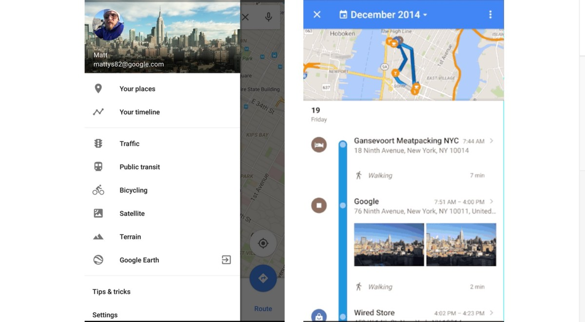 Google Maps now lets you revisit your location history in a ... on google latitude, google chrome, google sky, netflix history, google logo girl, android history, google moon, united states maps history, gmail maps history, google translate, google plus icon for website, web history, linux history, google docs, firefox history, web mapping, bing maps history, satellite map images with missing or unclear data, google search, google map maker, google earth sun, yahoo! maps, google goggles, social media history, search history, microsoft history, route planning software, bing maps, google street view, google mars, google voice, google earth, world maps history,