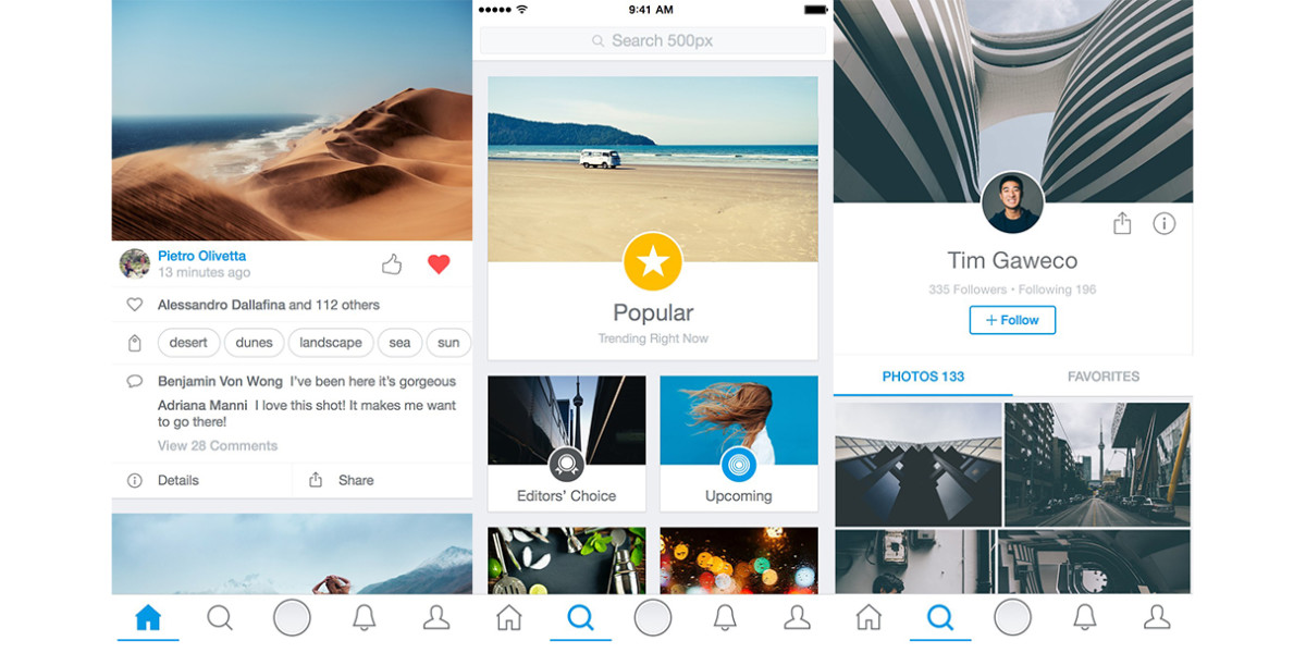500px overhauls its iOS app to enhance photo display and discovery