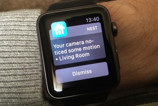 Apple Watch Nest Cam