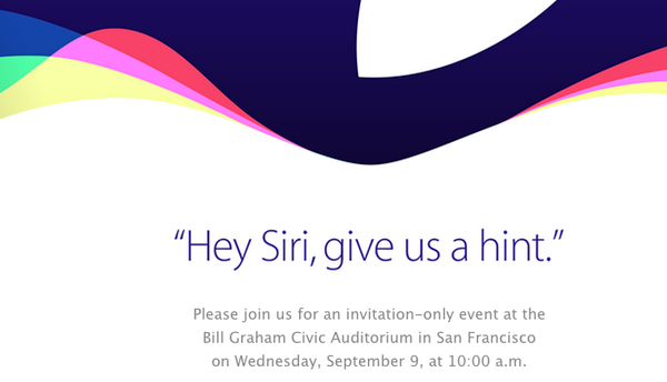 Apple's next event will be September 9 in San Francisco