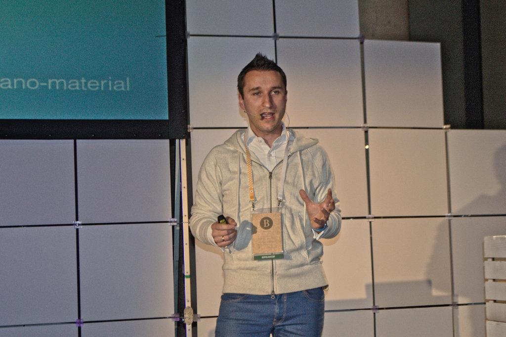 CEO of Estimote Jakub Krzych speaks at Bitspiration 2015