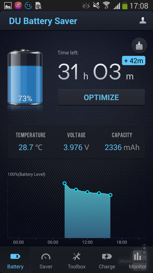 Battery Monitoring App User Interface : Du battery saver gives control over your phone s life