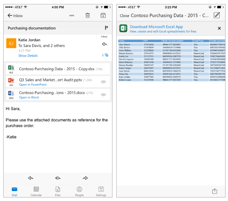 Outlook for iOS can now edit attachments with Office apps