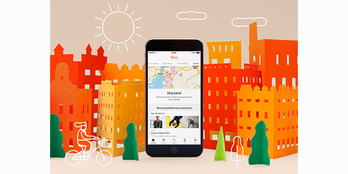 Etsy's updated mobile app lets you locate local artisans on-the-go