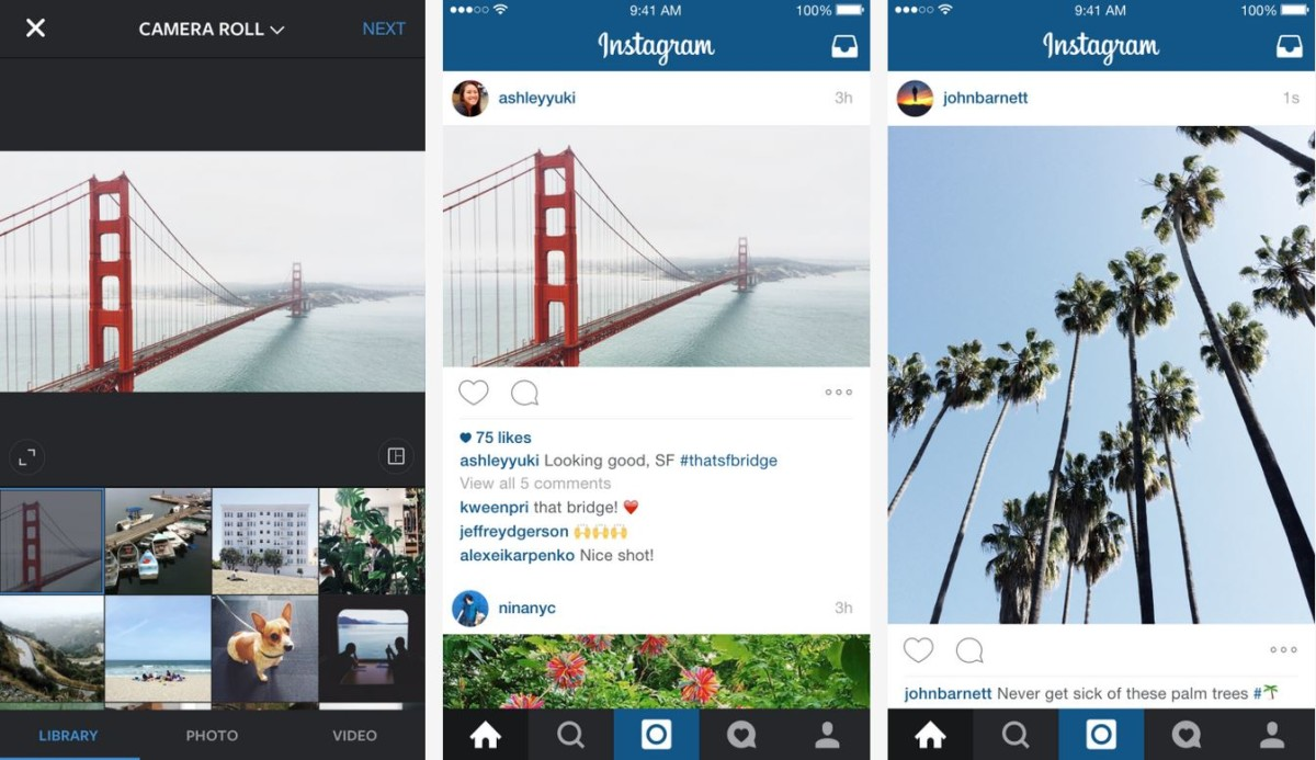 Instagram photos no longer have to be square