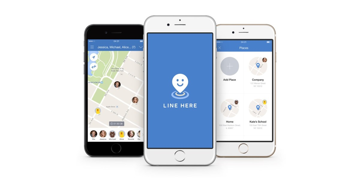 Line Here lets you keep tabs on your contacts' locations