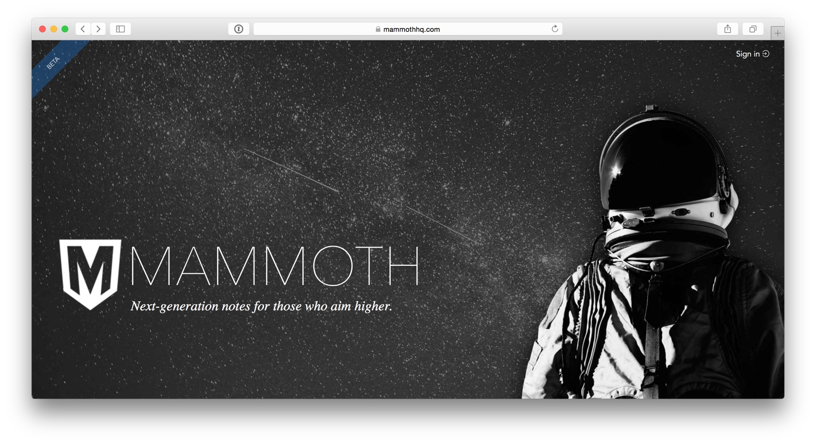 Mammoth homepage