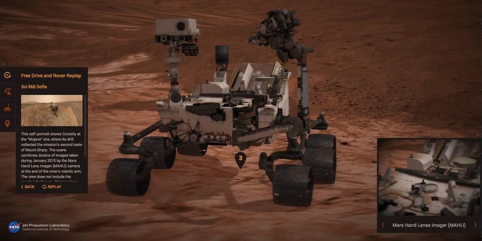 NASA Experience Curiosity