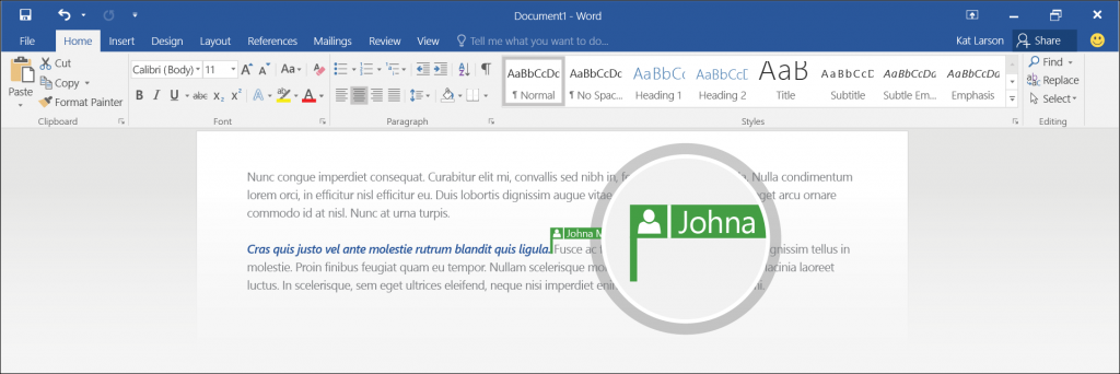 Microsoft Word 2016 is getting collaborative editing for OneDrive files